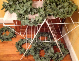 I filled a drying rack with them, then boxes, then coat racks!