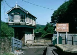 Grosmont's earlier wooden junction signal cabin - now replacedby a brick NER-style cabin on the NYMR side by the road to Sleights village and the moor road to Pickering