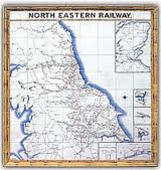 NER Tile Map at Whitby (made in the West Midlands). All main stations had one of these near the entrance to check the route
