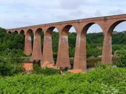 Larpool Viaduct today, no longer a railway viaduct, it has been made safe and is part of a heritage walk route