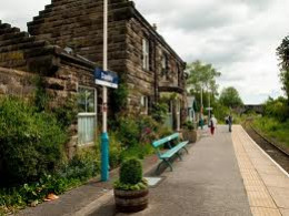 Danby Station - picturesque reminder of a bygone era and more prosperous times. Most people have their own transport. Most traffic here is the morning and afternoon train for school children, with an afternoon train around 2pm.