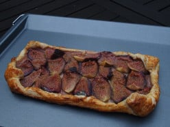 Fig Puff Pastry Tart with Agave Nectar, final result.
