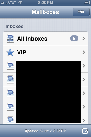 """Tap the """"New Message"""" icon in the lower right corner of the Mail window."""
