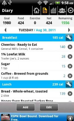 Calorie Counter Android App