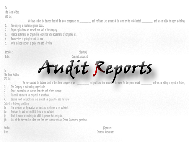 Types Of Audit Reports | Hubpages