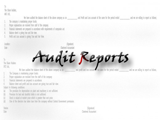 Types Of Audit Reports  Hubpages