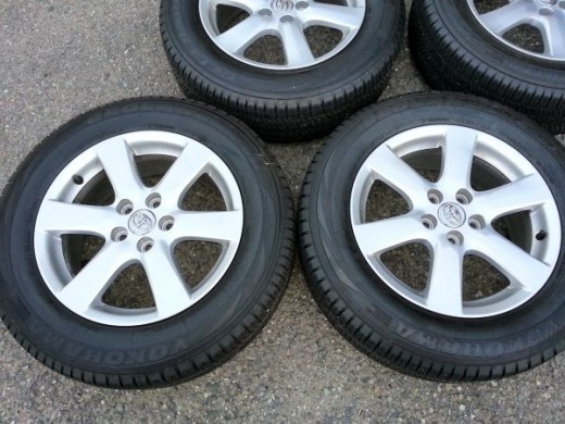 I saw these used factory wheels on a CL ad from a newer Toyota Rav4, guy was asking $700. They look brand new, and my guess is tires alone would be close to that much.