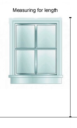 Measure from top of window to floor and account for rod height.