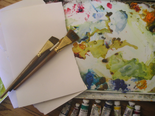 Good, cheap, watercolor paint, paper and brushes- find them!