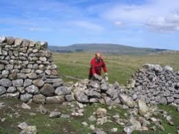 Dry stone wall repairs on Malham Moor