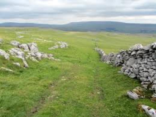 High Kilnsey Moor above Kilnsey Crag - see below