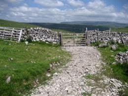 High Cote Moor between Hawkswick and Malham - ideal for walking or cycling holidays