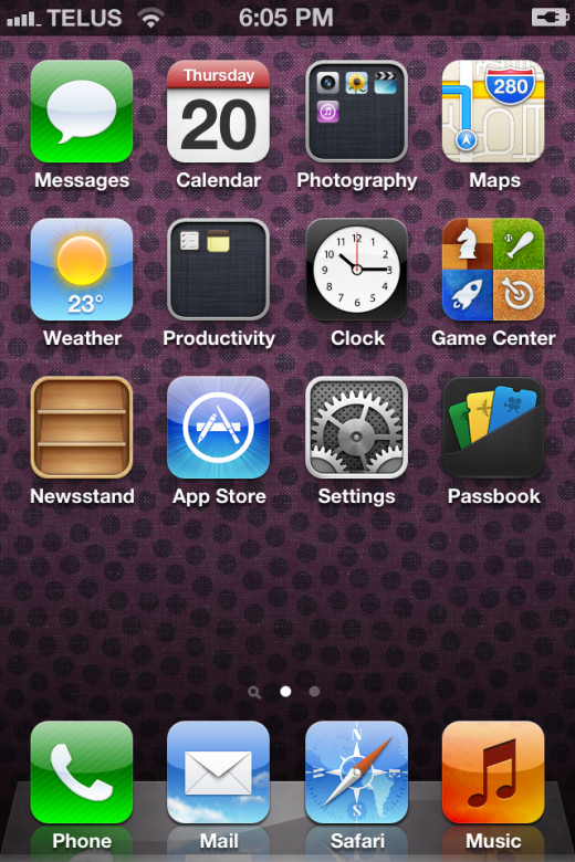 My iPhone 4s home screen