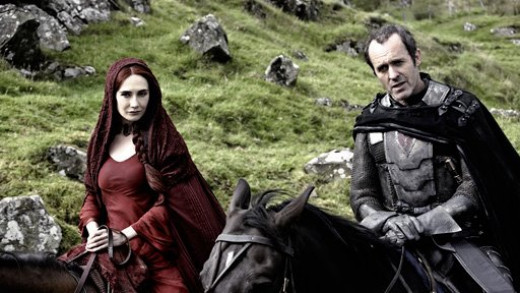 Melisandre, mysterious Red Priestess.