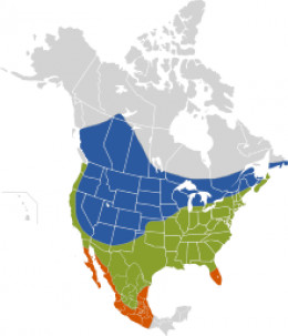 Range Map for Brown-Headed Cowbird