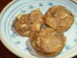 Yummy breakfast muffins with wheat berries