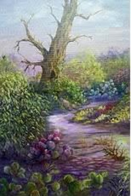 Desert Garden by Jean Powers done in Oils