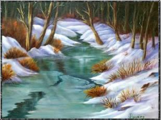 icy creek by Jean Powers