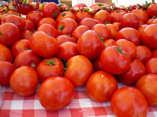 Local tomatoes are always the most flavorful