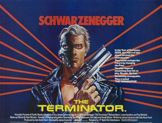 The Terminator (1984) UK poster