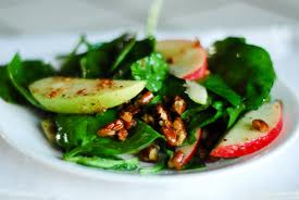 Spinach and apples play a very important role to this great tasting salad, I hope you enjoy it as much as I do.