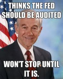 """I do not own this image.  It was obtained through a Google search using key words """"Ron Paul."""""""