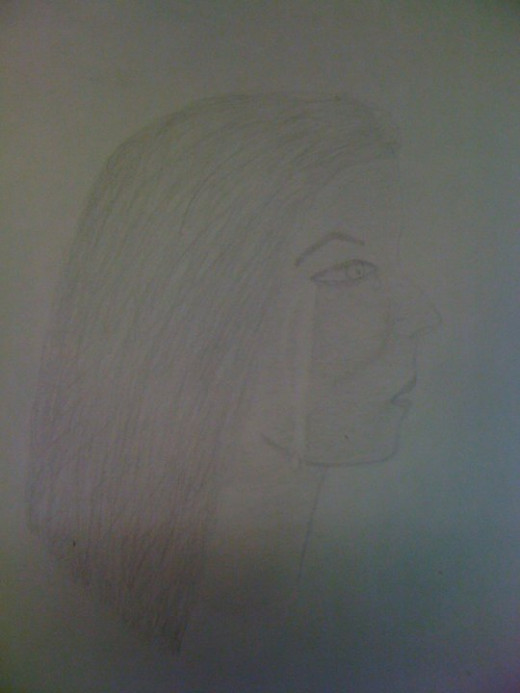 I am no artist, but I did draw this picture shortly before my husband and I split up. It had real feelings behind it.