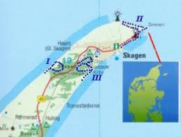 Skagen, 'the skaw' and 'the northernmost point of Jylland, Grenen
