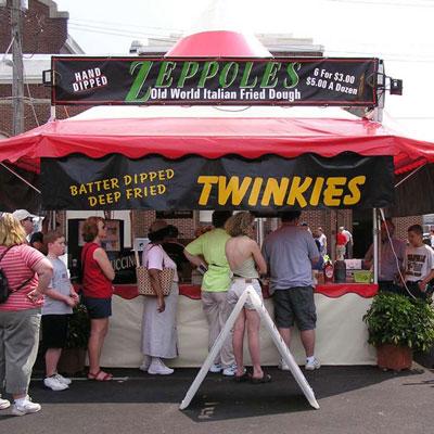 Deep fried Twinkies (Indiana)