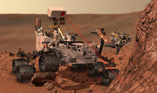 Artist Rendition of Curiosity Rover