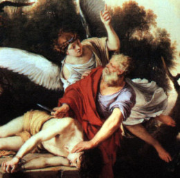 Abraham obeyed God's command to offer his son Isaac. (Photo Credit: http://anewdayoutreach.com/abraham.htm)