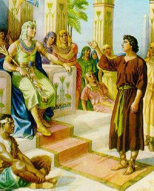 Joseph interprets Pharaoh's dreams (Photo Credit: http://therockofmysalvation.org/)