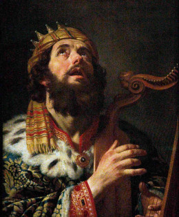 King David known to play his harp -Songs of David (Photo Credit: http://platytera.blogspot.com/)