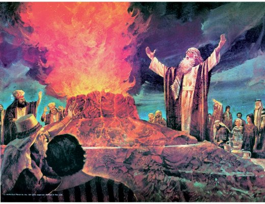 Elijah -commanding the fire to descend from heaven as witnessed by Baal prophets (Photo Credit: http://aparchedsoul.com/)