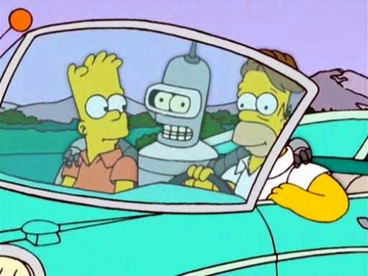 Bender appearance in The Simpsons