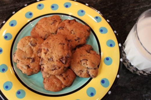 Classic chocolate chip cookies with all natural sugar