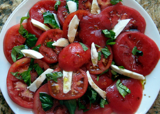 Homemade Caprese Salad