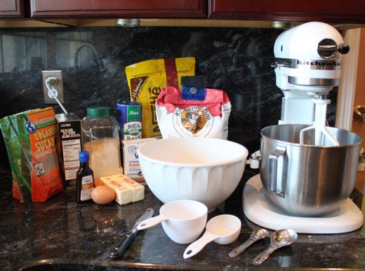 My version of chocolate chip cookie mise en place