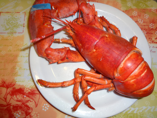 Post-cooked Lobster