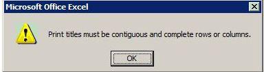 Contiguous print error