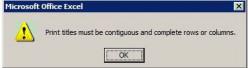 Excel contiguous print error