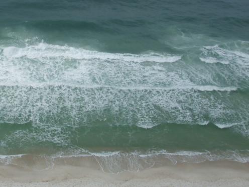 These ocean waves capture the essence of my basement floor before repairs began.
