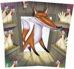 """I do not own this image.  It was obtained through a Google image search using the key words """"fox in the hen house."""""""