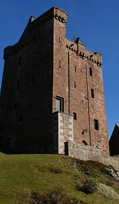 Kinnaird Castle of Perthshire -- overlooks the Carse of Gowrie and Tay Estuary, Scotland