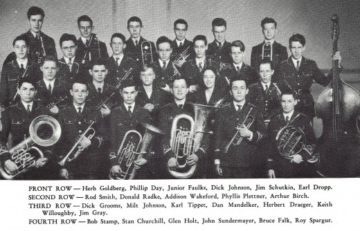 Photo of some members of the band which totaled fifty-one individuals that year.