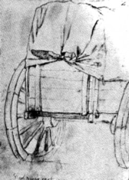 Red River Ox-Cart drawn by Frank Blackwell Mayer