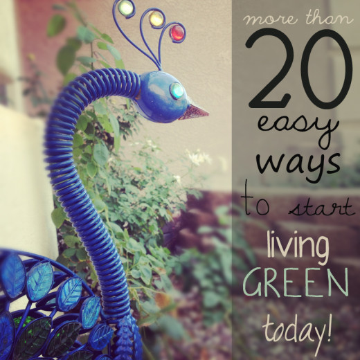 Tips for living green and green living tips.