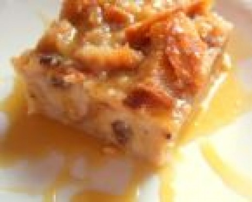 Tasty and Moist Bread Pudding