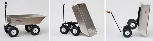 Amish made tandem aluminum dump wagon