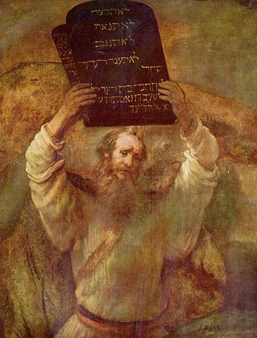 """Moses With The Ten Commandments"" Rembrandt (1659)"